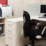 Computer and printer — Stock Photo
