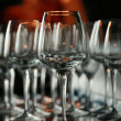 Wine glasses on bar — Stock Photo #4094684