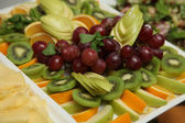 Assorted fruits for the buffet — Stock Photo
