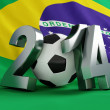 Brazil flag football - Stock Photo