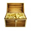 Wooden trunk — Stock Photo