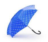 Blue umbtella on white background — Stock Photo