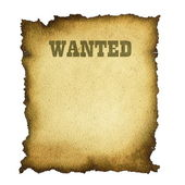 Wanted form old — Stock Photo
