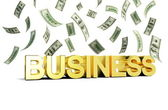 Business rain of money — Foto Stock