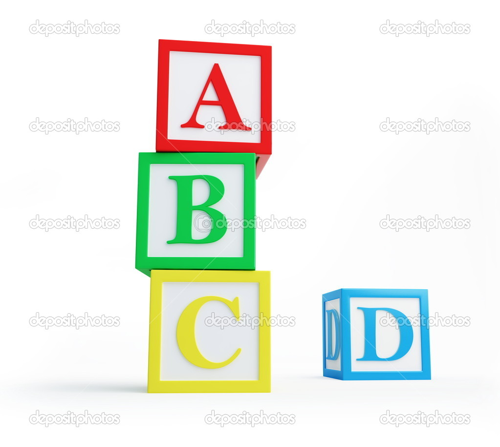 Alphabet blocks solated on a white background  — Stock Photo #4132765