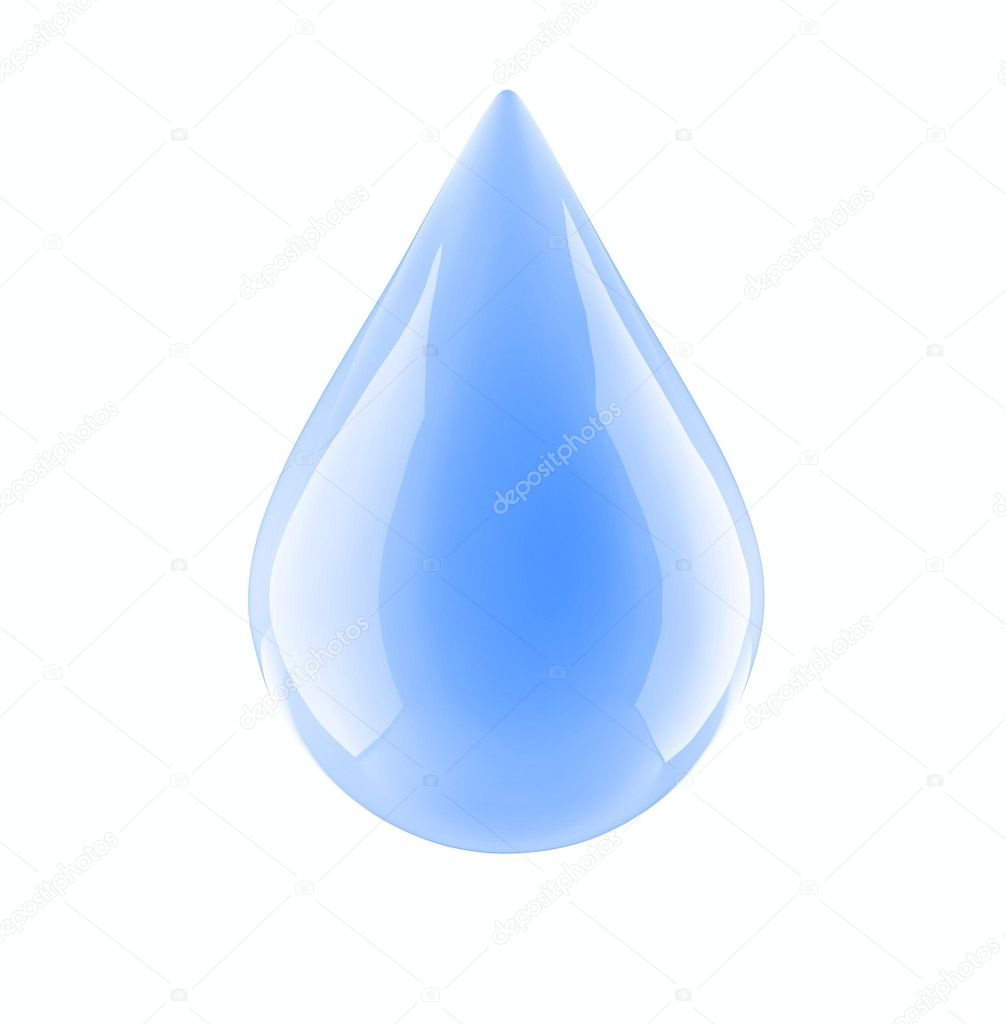 Water drop on a white background — Stock Photo © 3dfoto ...
