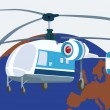 Stock Vector: Helicopter aviation