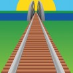 Railroad bridge — Stock Vector