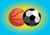 Calcio e basket — Vettoriale Stock