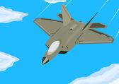 近代的な戦闘機 — ストックベクタ