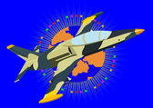 Modern fighter-interceptor — Stock Vector