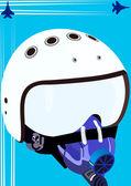 Pilot helmet — Stock Vector