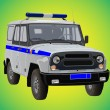 Police car — Stockvectorbeeld