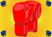 Боксерские перчатки — Cтоковый вектор
