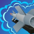 Vector de stock : Missile defense