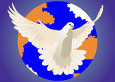 Dove of peace — Stock Vector