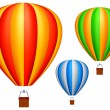Hot air balloons. — Vettoriale Stock #4012329