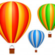 Stock Vector: Hot air balloons.