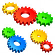 Stock Vector: Color gears.