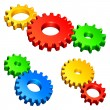 Color gears. - Stock Vector