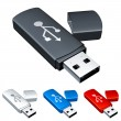Royalty-Free Stock Vector Image: Usb flash drive.