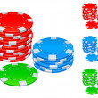 Royalty-Free Stock Vector Image: Gambling chips.
