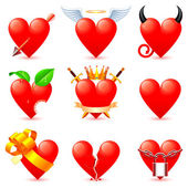 Heart icons. — Stock Vector