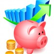 Royalty-Free Stock Vector Image: Piggy bank.