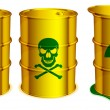 Stock Vector: Toxic barrels.