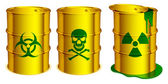 Toxic barrels. — Stock Vector
