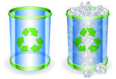Trash cans. — Stock Vector