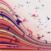 Lignes de vector abstraite — Vecteur