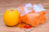 Oranžový lázně — Stock fotografie