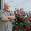 Stock Photo: Grower of flowers