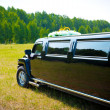 Black limousine - Stock Photo