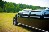 černá limuzína — Stock fotografie
