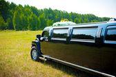 Black limousine — Stockfoto