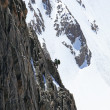 Climber on a route — Stockfoto