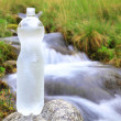 图库照片: Plastic bottle with clewater