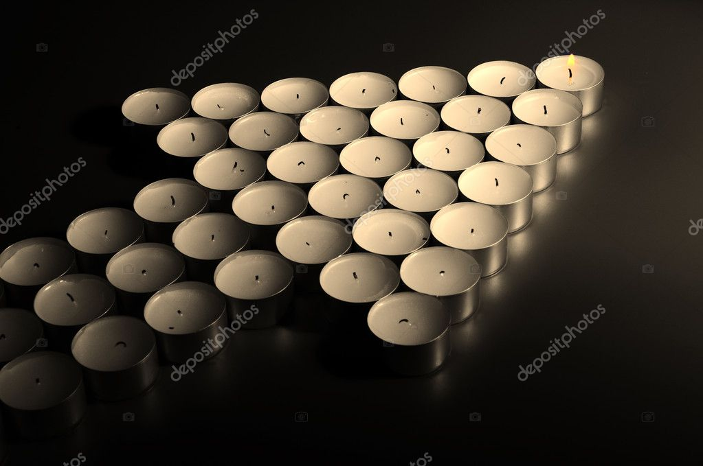 Leader of team made from candles  Stock Photo #4349715