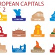 European capital symbols — Stock Vector #3964852