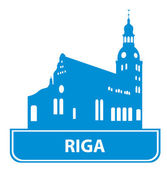 Riga skyline — Stock Vector