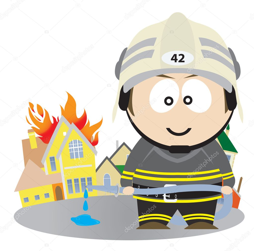 Firefighter. Vector illustration for you design — Stock Vector #4627787