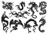 Dragões — Vetorial Stock