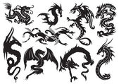 Dragons — Vector de stock