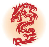Red dragon — Stock Vector