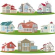Cottages — Stock Vector #5090738