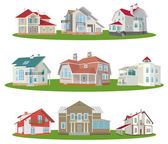 Cottages — Stock Vector