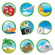 Vacation icons — Stok Vektör