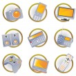 Stock Vector: Hi-tech equipment icons